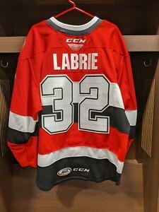 GAME WORN Hubert Labrie Belleville Senators RED Jersey - Size 56