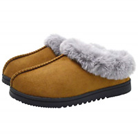 Womens Fuzzy Memory Foam Slippers Boots Cozy Faux Fur House Shoes Indoor Outdoor