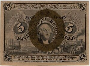 FR. 1232 5¢ 2nd ISSUE FRACTIONAL NOTE - CRISP CHOICE XF +