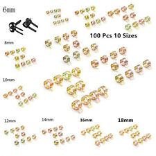 100 Pcs 65Mn Spring Clip Fuel Oil Water Hose Pipe Tube Clamp Fasteners Universal