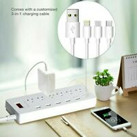Power Strip Surge Protector 6 Outlets with 6 Smart USB Charging Ports