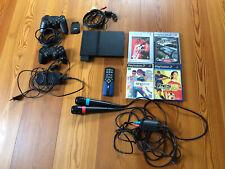 Playstation 2 Slim Konsole mit Extras, PES, Sing Star & Controllern