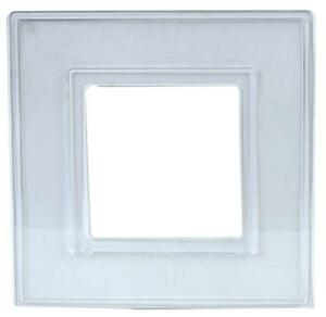 X2 DOUBLE TRANSPARENT FINGER PLATE LIGHT SWITCH SOCKET WALL BACK COVER SURROUND