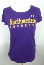 Under Armour Women's sz S Purple Semi-Fitted Heat Gear Scoop Neck Athletic Shirt