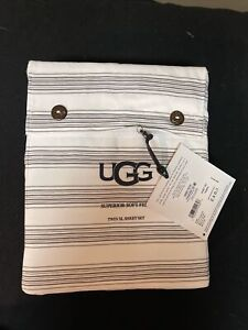 UGG Gwen Twin XL Charcoal Color Sheet 3 Pc Set NWT OEKO-TEX STANDARD