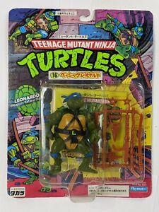 1989 Playmates TMNT Ninja Turtles Leonardo 10 Back Japan Takara MOC Carded