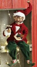 "Raz Imports 16"" BLITZ posable ELF 3702428 Santa Supply Co plush figure"