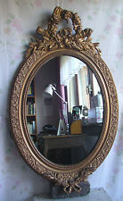 antik Spiegel Louis XVI Frankreich Holz Stuck gold Oval Jugendstil french mirror