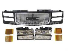 1994-2002 Gmc C/K Pickup Old Style Grille Black Headlight Signal Park Light 9Pcs