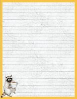 """Forest Friend Lined Stationery 8.5""""X11""""  25 sheets and 10 color coord envelopes"""