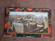 Early postcard - Various Tartan / Clan border --Edinburgh Calton Hill scene