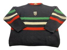 Vintage RETOUR Olympic Knit Sweater Jumper Italy 1950s Sportswear Size Medium
