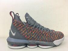 Nike Lebron XVI 16 Multi Color Metallic Silver BQ5969 900 Mens Size 9.5