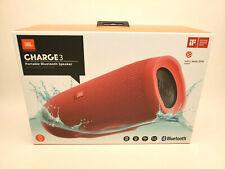 JBL Charge 3 JBLCHARGE3REDAM Portable Waterproof Speaker System - Red NEW!