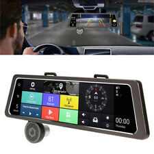 "10"" Touch GPS Navigation System Dual Lens DVR Recorder Bluetooth Voice Control"