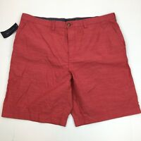 NEW Tommy Hilfiger Men's Classic Fit Flat Front Cotton Casual Dress Shorts 40