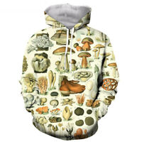 mushroom collage Funny 3D print Hoodie Men Women Casual Sweatshirt Pullover Tops