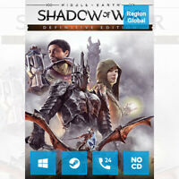 Middle-Earth Shadow of War Definitive Edition for PC Game Steam Key Region Free