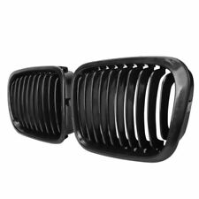 Pair Glossy Black Front Kidney Grill Grille For BMW E46 3Series Sedan 4Dr 98-01