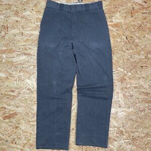 GREY W32 L31 DICKIES 874 STRAIGHT LEG ORIGINAL FIT SKATE PANT CHINO TROUSERS