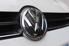 Front + Rear VW Carbon Fiber Style Badge Sticker set for GOLF 7 MK7 TDI GTI R
