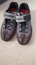 Mens Shimano Gray Biking  Cycling Shoes Size 9