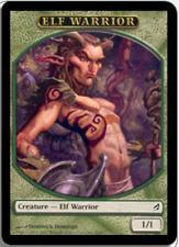 MTG X4: Elf Warrior Token, Lorwyn, C, Light Play - FREE US SHIPPING!
