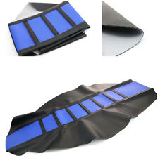 Blue Leather Motorcycle Seat Cover For WR YZF CRF KTM SUZKI Off Road #8130-8135