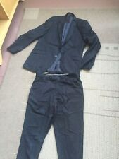 man's black butler and webb 2 piece pinstriped suit 40l