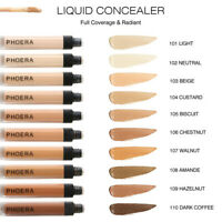 PHOERA Concealer Full Coverage Liquid Foundation Face & Eye Contour Long lasting
