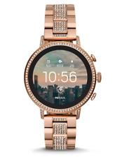 Fossil Women's Q Venture Gen 4 Smartwatch Rose Gold Glitz Google OS