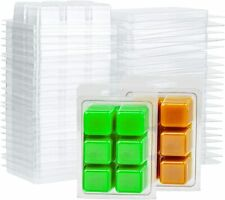 Wax Melt Clamshells Molds Square Candle Soap Making 6 Cavity Clear Plastic Cube