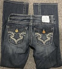 BIG STAR BKE Embroidered Triangle Pocket CASEY Thick Stitch Distressed Jean 26