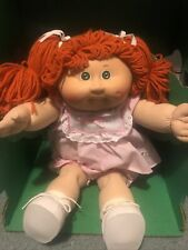 1985 Vintage Cabbage Patch Kids Xavier Roberts Green Eyes Red Hair Dimples