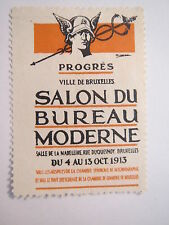 BRUXELLES-Bruxelles - 1913-salon TU BUREAU MODERNE/PUBLICITE marque