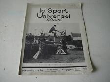 Le Sport Universel illustré 13.07.1929 Au concours hippique de Vichy n°1376