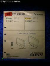 Sony service manual KL 37w1/K/U 50w1k (#0935)
