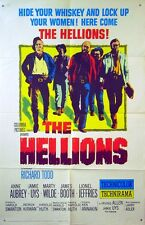 HELLIONS 1961 Richard Todd, Anne Aubrey, Jamie Uys, Marty Wilde US 1-SHEET