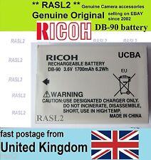 Genuine Original Ricoh Db-90 Battery GXR A12 S10 P10