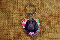 Cocker Spaniel Dog Keyring Black Dog Key Ring heart Birthday Mothers Day Gift