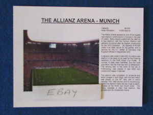"Football Information Postcard - 6""x4"" - World Cup 2006 Venues - Munich"