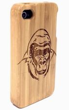 iPhone 5/5s Bamboo Wood Case  ( Gorilla Engraving ) 100% Genuine Wood Cover✔️