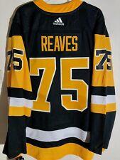 AUTHENTIC NHL ADIZERO JERSEY PITTSBURGH PENGUINS RYAN REAVES BLACK sz 46