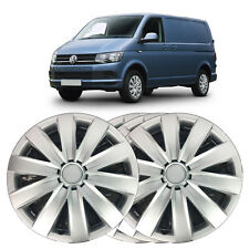 "4 X 16"" SOLID SILVER WHEEL TRIM COVER FITS VW TRANSPORTER T5, T6, 2003 ONWARD"