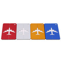 Travel Aluminium Luggage Tags Suitcase Label Name Address ID Bag Baggage Tag KV