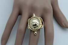 Women Ring Gold Metal Turtle Fashion Jewelry Water Animal One Size Elastic Band