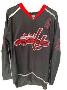 RARE Black Washington Capitals Jersey Backstrom Size 48