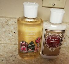 Lot of 2 Bath & Body Works Christmas Cookies Shower Gel & Body Lotion
