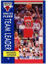1992-93 Fleer Team Leader Michael Jordan #375