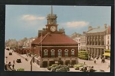 Town Hall Stockton on Tees 1940's ? Postcard ~ Co Durham ~ LOVELY COLOURS